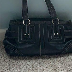 Coach Soho Zip black leather satchel